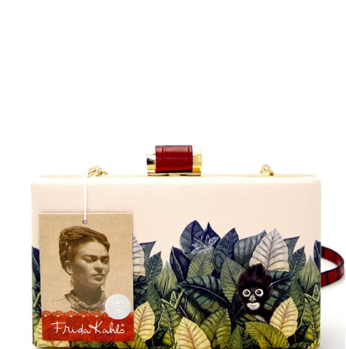 Authentic Frida Kahlo Jungle Series Frame Hard Clutch RD