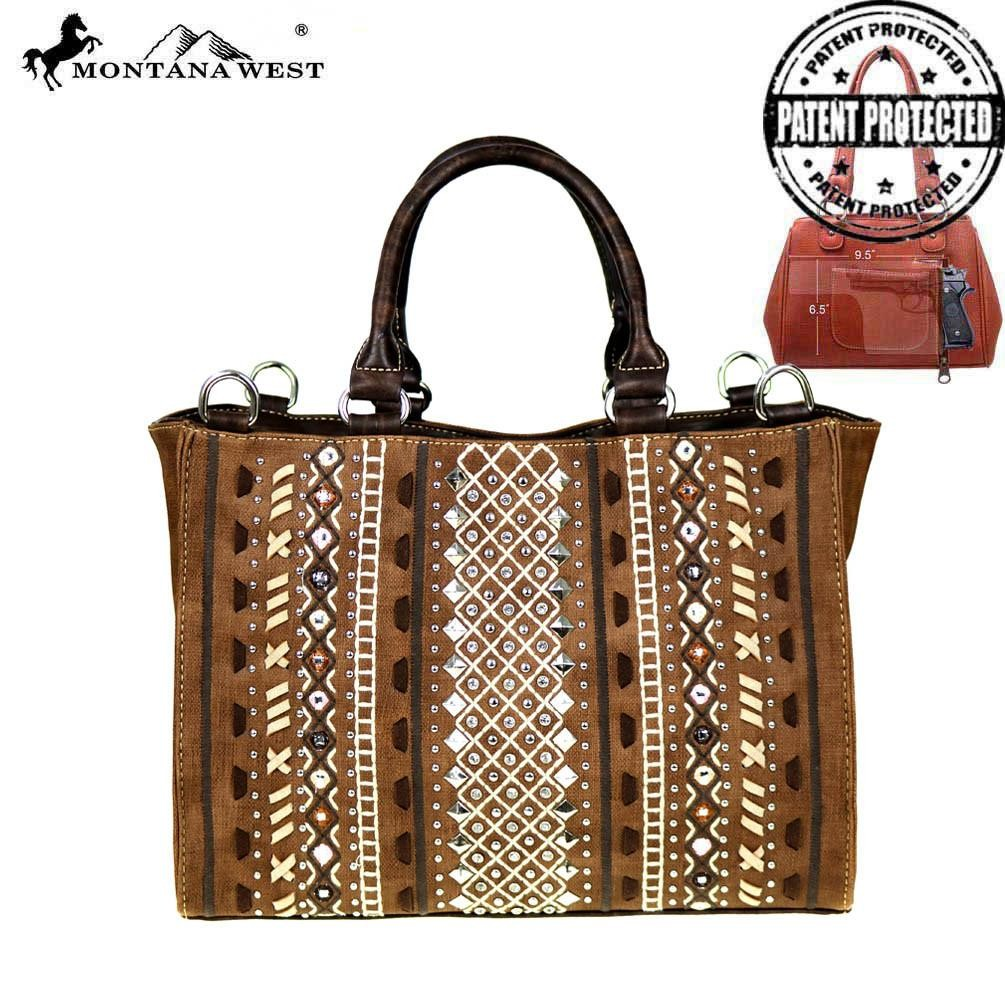 MW516G-8566 Montana West Tribal Collection Concealed Handgun Satchel