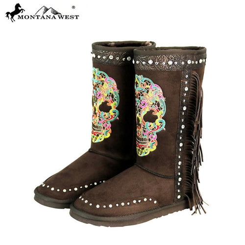 BST-106 Montana West Sugar Skull Collection Boots