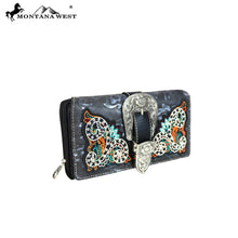 MW633-W010 Montana West Buckle Collection Secretary Style Wallet