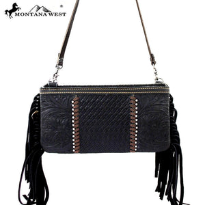 RLC-L003 Montana West 100% Real Leather Clutch