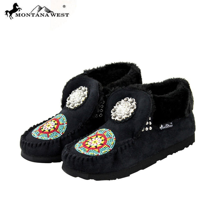 SBT-001 Montana West Moccasins Floral Concho Collection