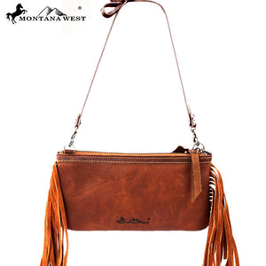 RLC-L008 Montana West 100% Real Leather Clutch