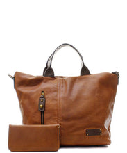 Fashion Faux Leather Handbag + Wallet