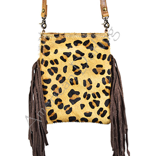 CROSSBODY CHEETAH PRINT WITH FRINGES