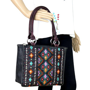 MW622-8559 Montana West Embroidered Collection Tote Bag