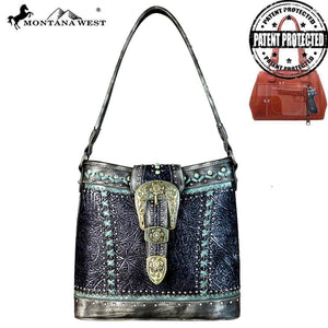 MW651G-8284 Montana West Buckle Collection Concealed Carry Hobo