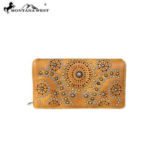 MW678-W010 Montana West Concho Collection Secretary Style Wallet
