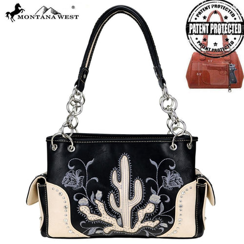 MW757G-8085 Montana West Embroidered Collection Concealed Carry Satchel