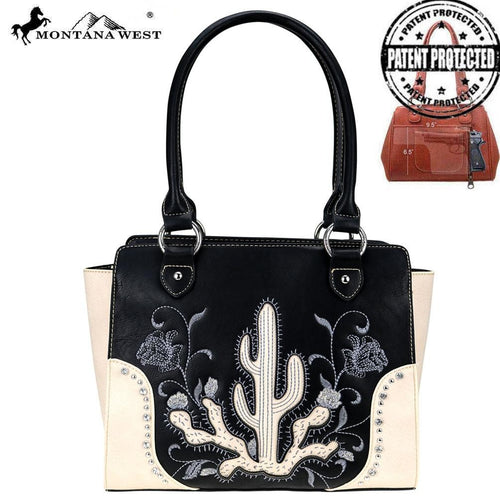 MW757G-8250 Montana West Embroidered Collection Concealed Carry Trapezoid Tote