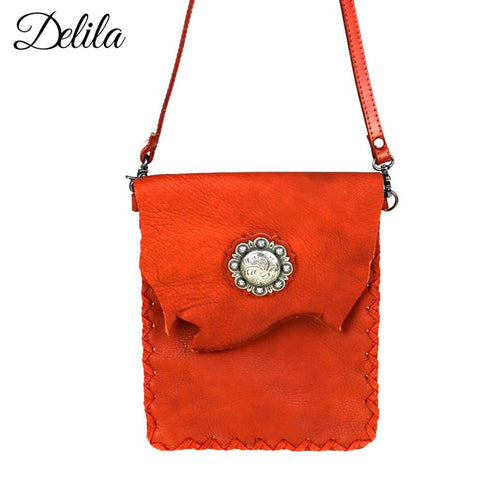 RLC-L077 Delila 100% Genuine Leather Crossbody
