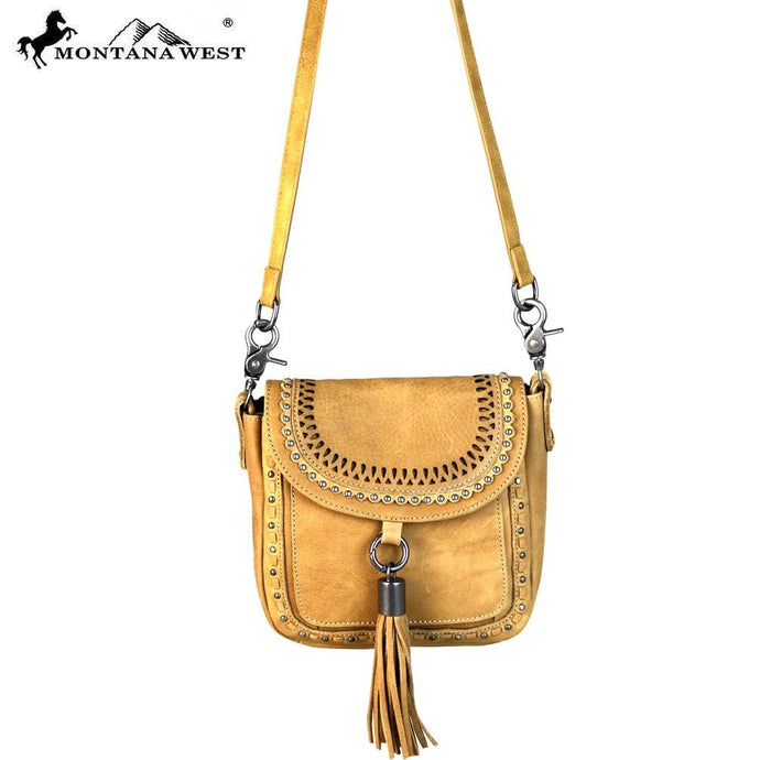 RLC-L088 Montana West Real Leather Collection Crossbody