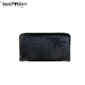 TR13-W003 Trinity Ranch Hair-on Leather Collection Wallet