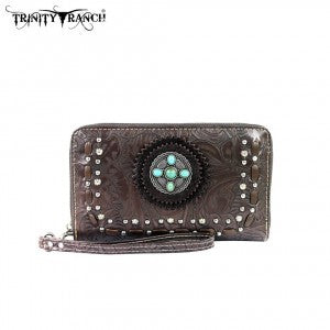 TR21-W003 Trinity Ranch Tooled Design Wallet