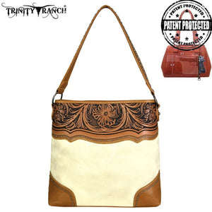 TR46G-121 Trinity Ranch Tooled Leather Collection Concealed Handgun Hobo
