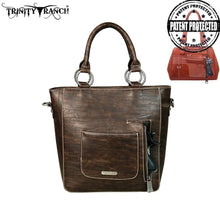 TR47G-8240 Trinity Ranch Tooled Collection Concealed Handgun Tote/Crossbody