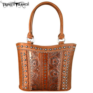 TR60-8005 Trinity Ranch Tooled Leather Collection Tote