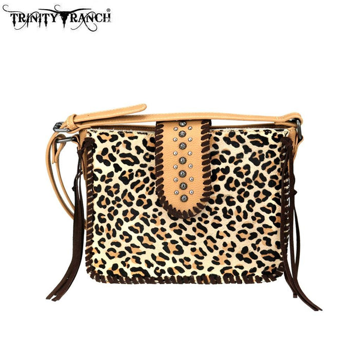 TR75-8360 Trinity Ranch Hair-On Leather /Safari Collection Crossbody Bag