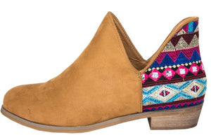 AZTEC BOOTIES CAMEL COLOR
