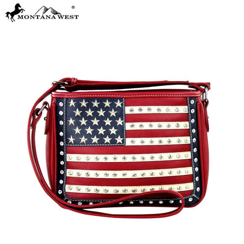 US04-8287 Montana West American Pride Collection Messenger Bag