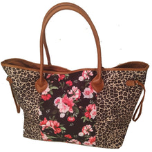 LEOPARD FLORAL TOTE