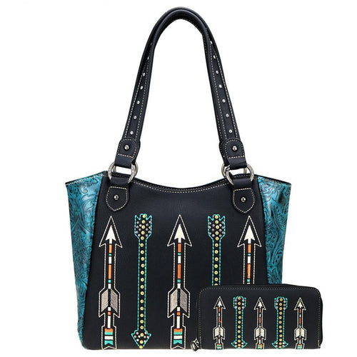ABS-002W American Bling Arrow Collection Tote and Wallet