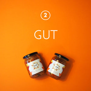 Gut friendly kimchi, full of lactic acid probiotic bacteria