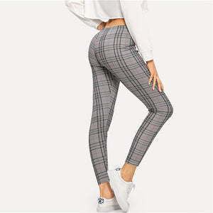 Legging imprimé à carreaux