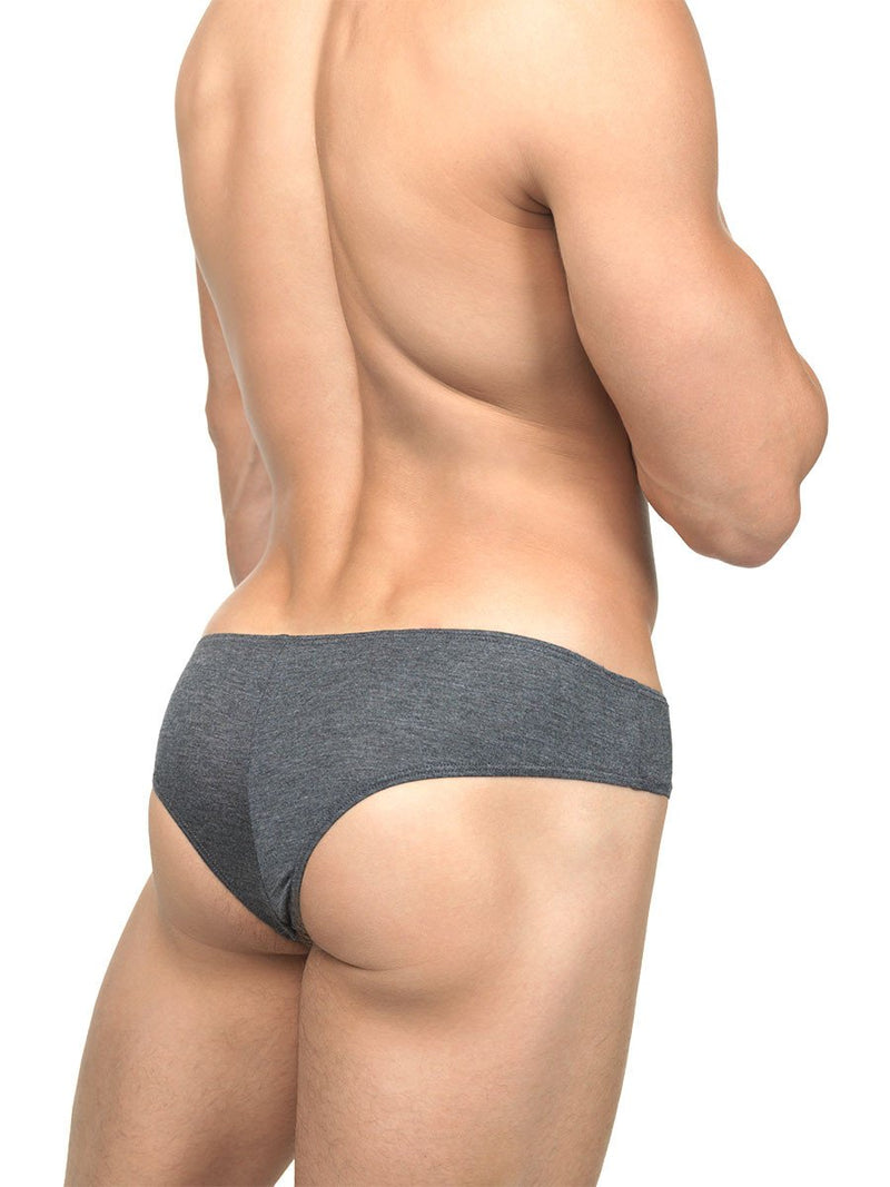 Men's grey soft rayon cheeky brief panties