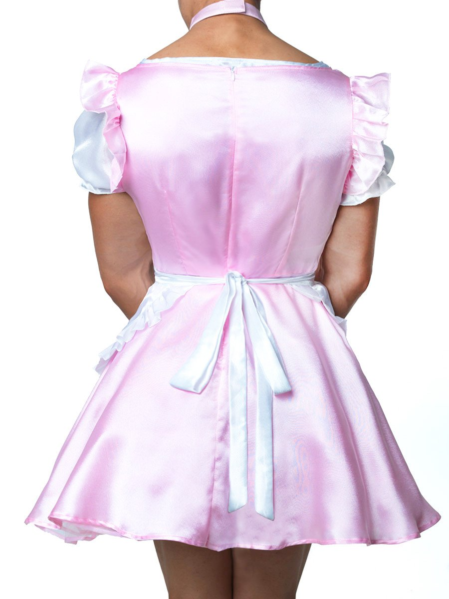 Men's pink french maid fantasy fetish dress
