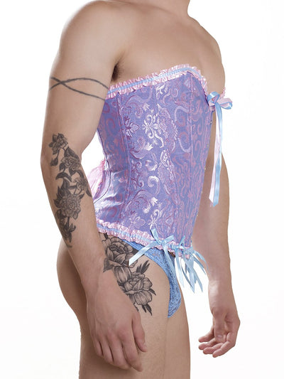 Blue and Pink Corset