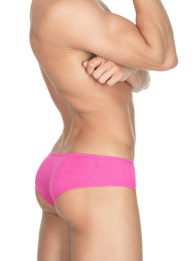 Men's pink soft rayon cheeky brief panties