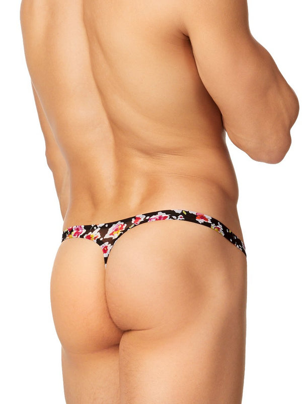 The Floral Mesh Thong