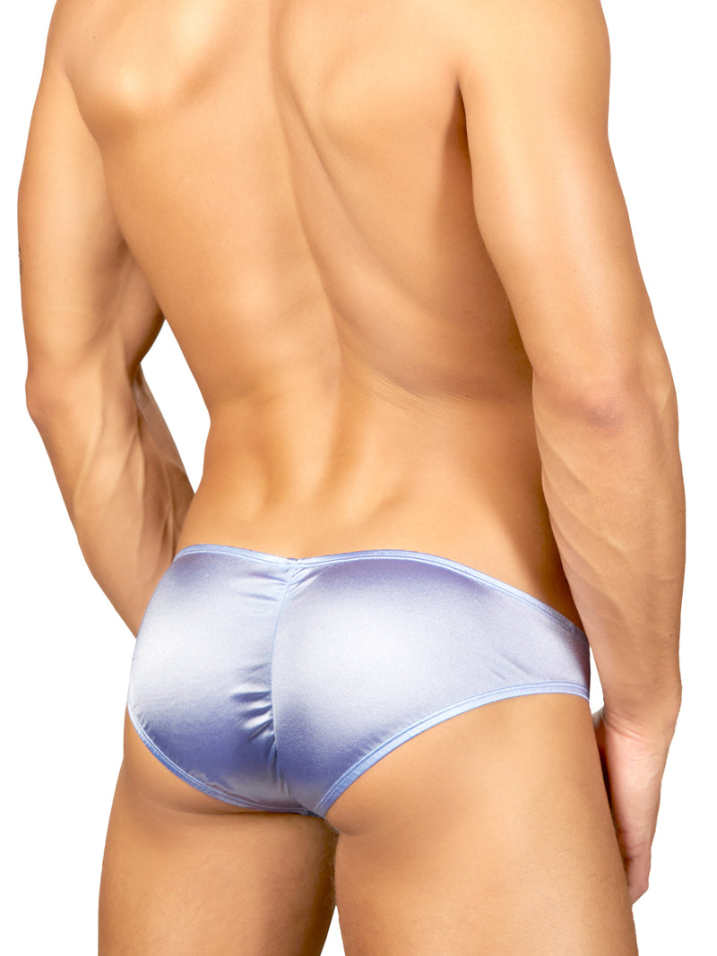 Men's Blue Satin Briefs