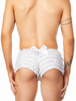 men's white frilly panties