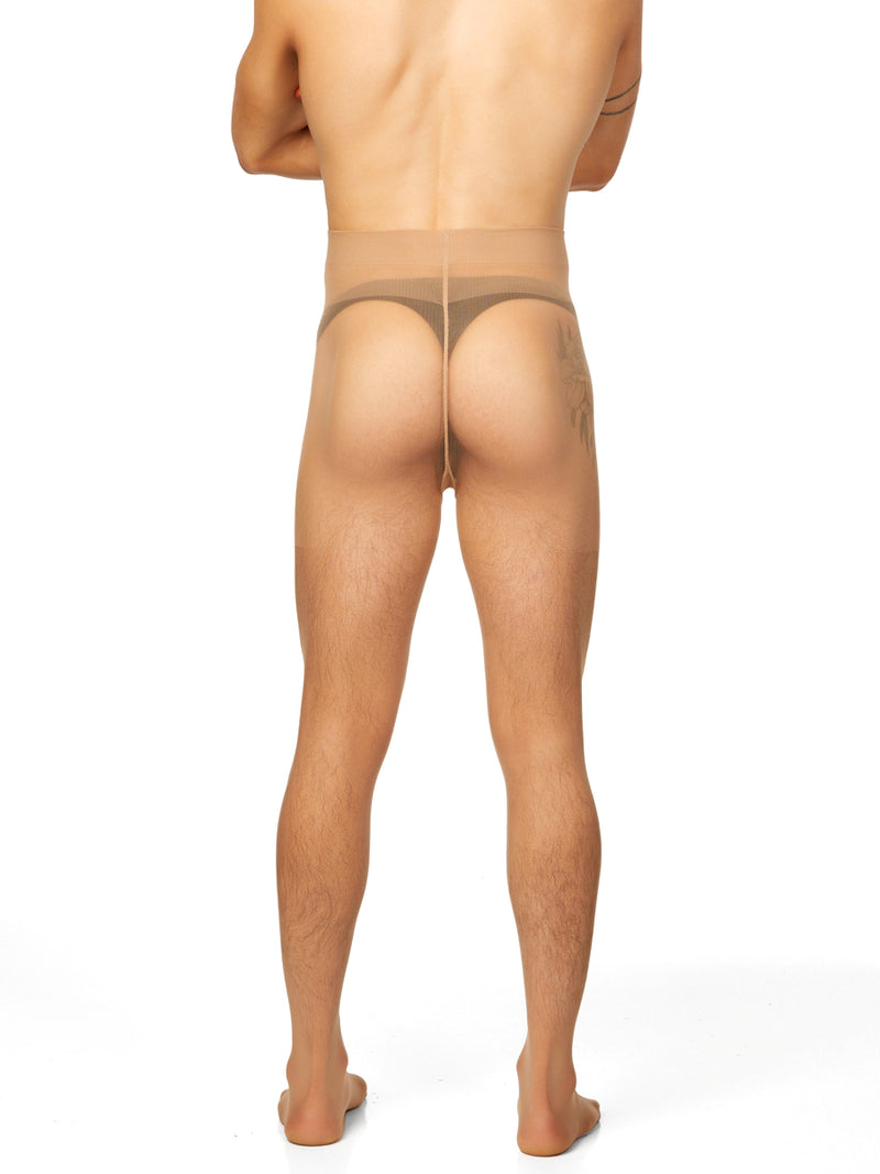 men's nude luxury pantyhose