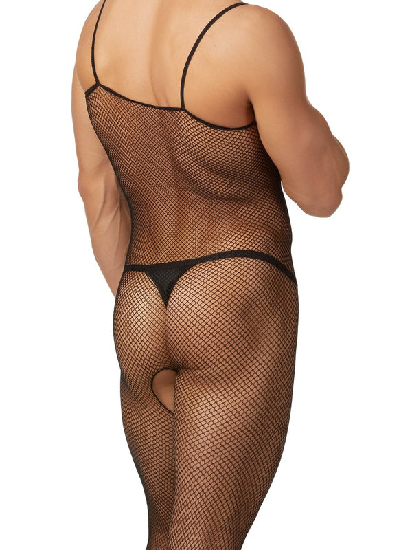 men's fishnet body stocking