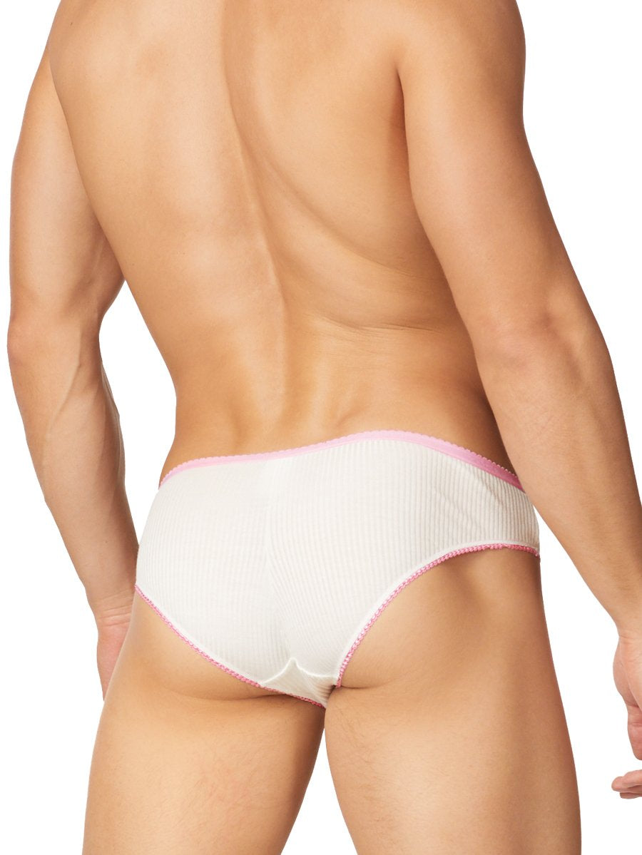 Men's White & Pink Panties