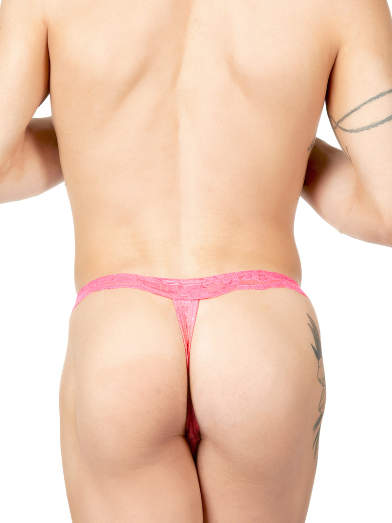 Men's coral lace thong