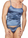 Men's Blue Satin Camisole