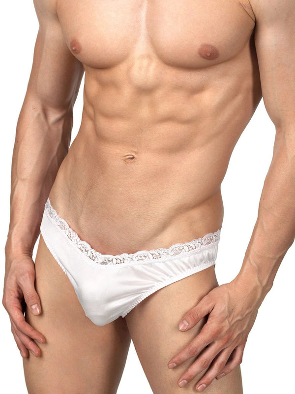 Men's Satin & Lace Briefs