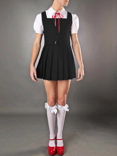 Men's Sexy Fantasy Black School Girl Costume Dress