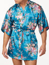 Men's Satin Floral Print Robe