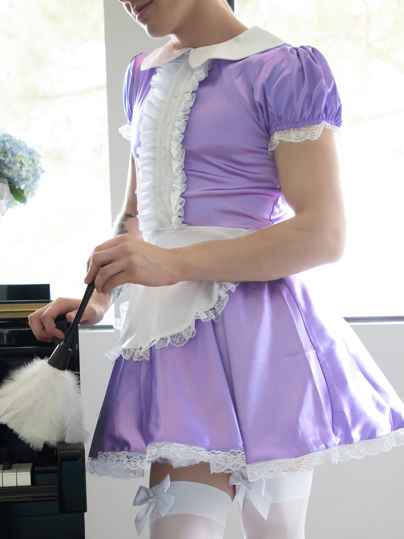 Men's purple Maid Dress