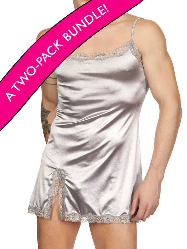 Sleek Satin Nightie 2-Pack