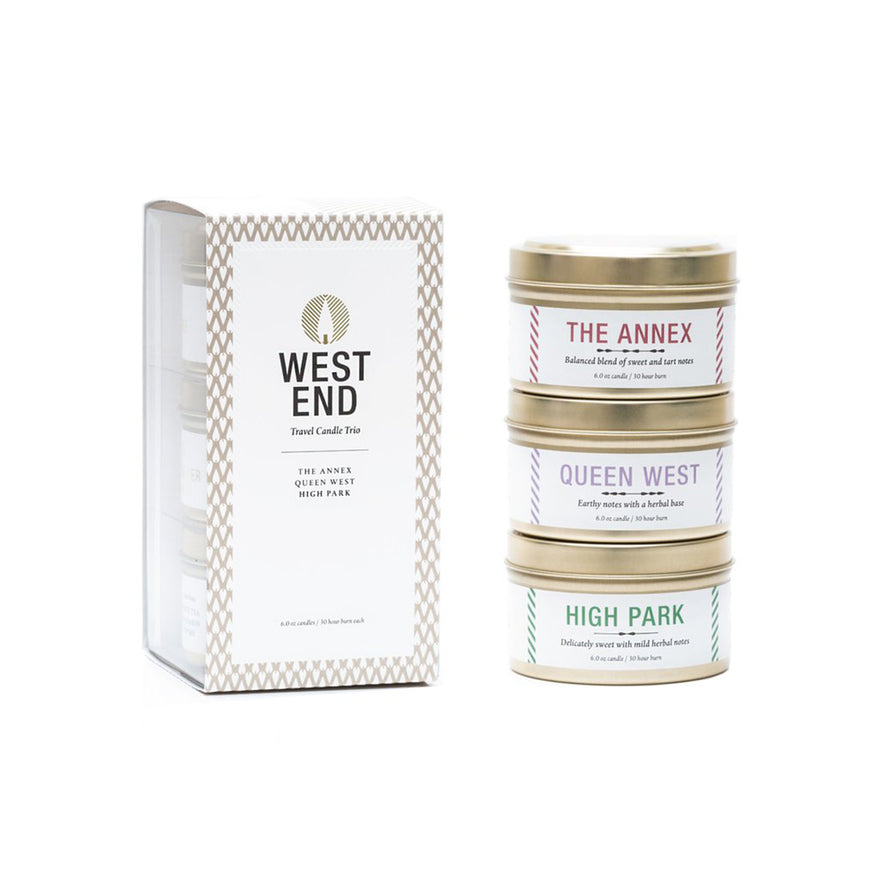 Toronto Travel Candle Trio - West End