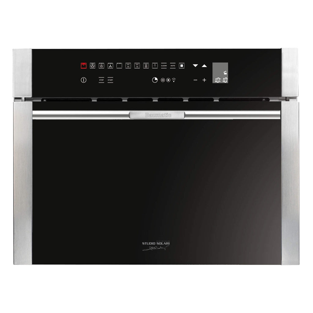 Baumatic Premium-Line BCS455TS 46cm Compact Steam Oven Black & Stainless Steel