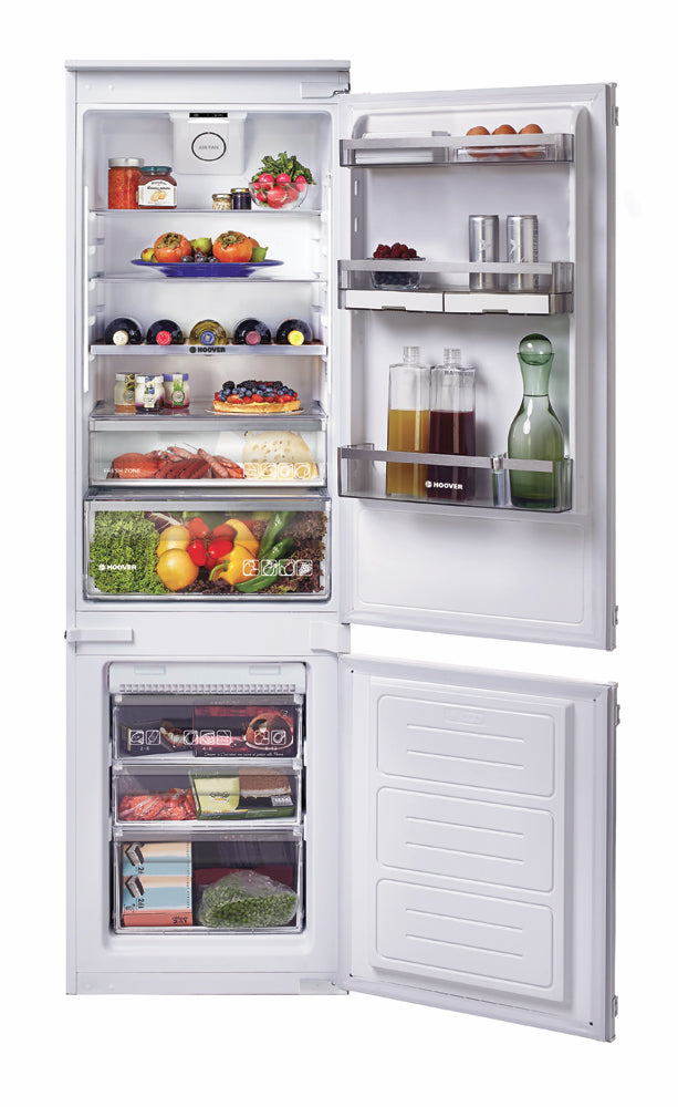 Hoover BHBF 172 NUK 250 LITRE INTERGRATED 70:30 FROST FREE FRIDGE FREEZER WHITE