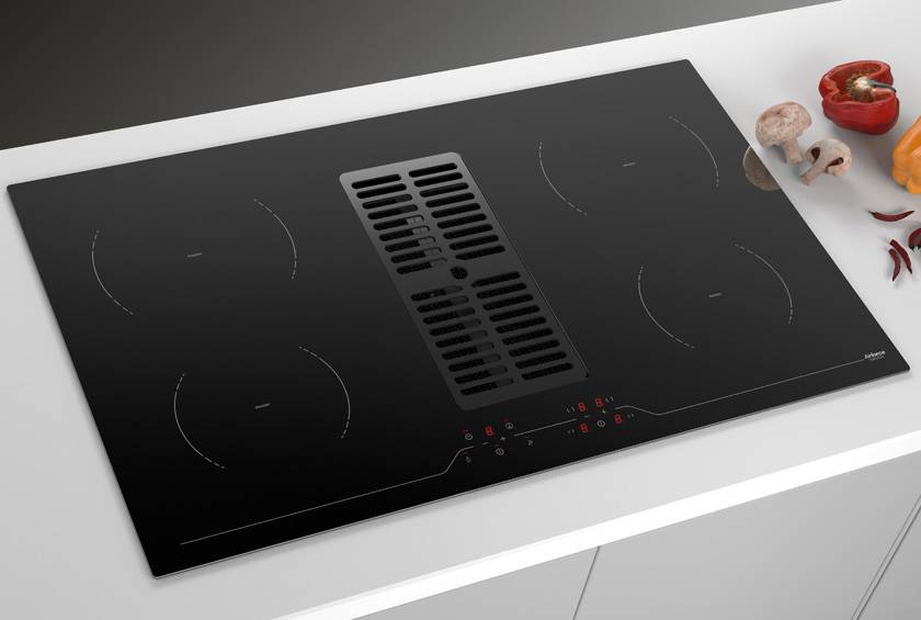 Airforce Aspira 86cm Centrale B2 Eco Downdraft Induction Hob
