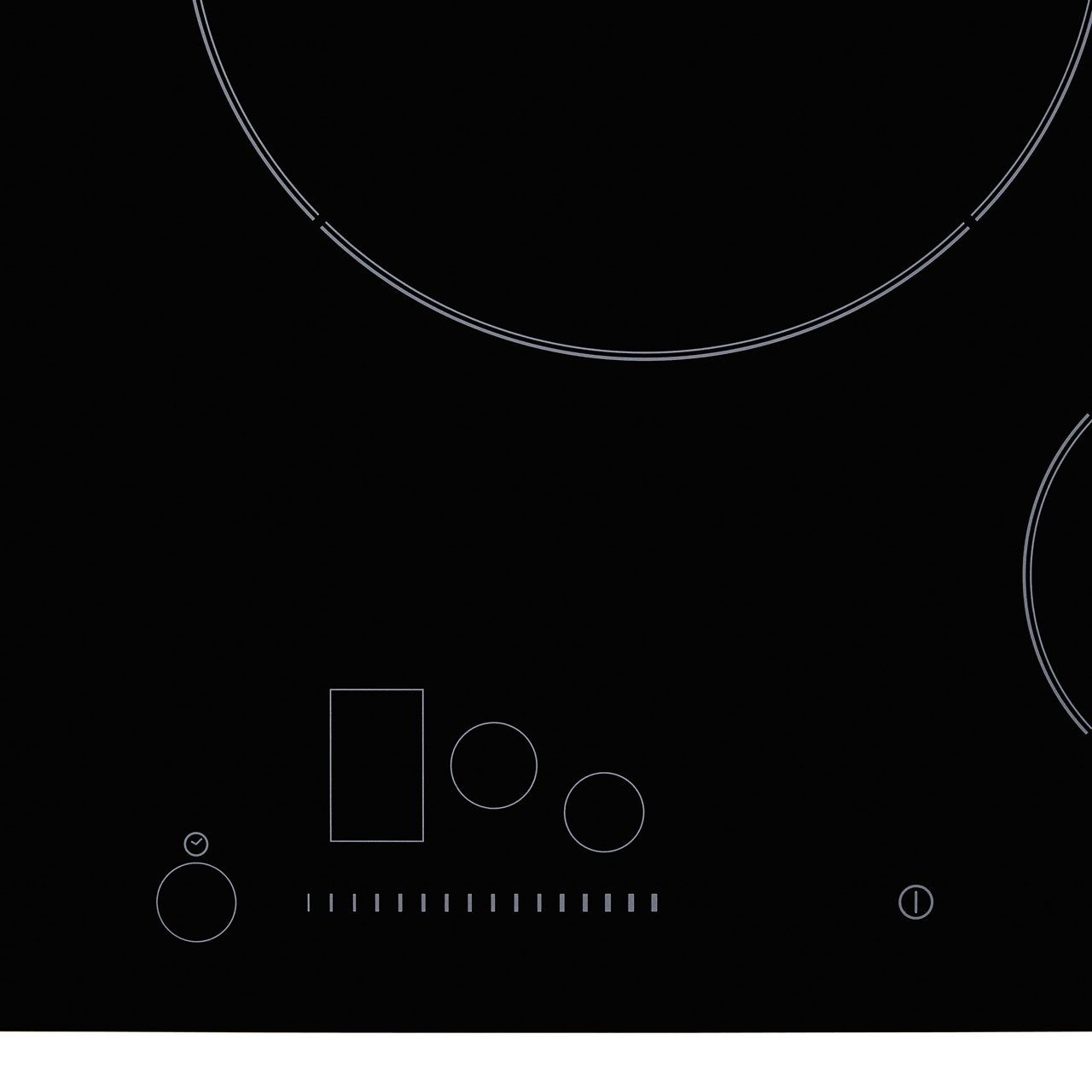 Hoover HPI 82 80cm Flexi-Zone Induction Hob - Black Glass - Controls